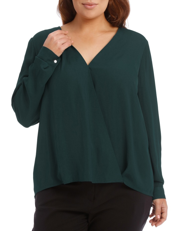 Wrap Shirt - Emerald image 1