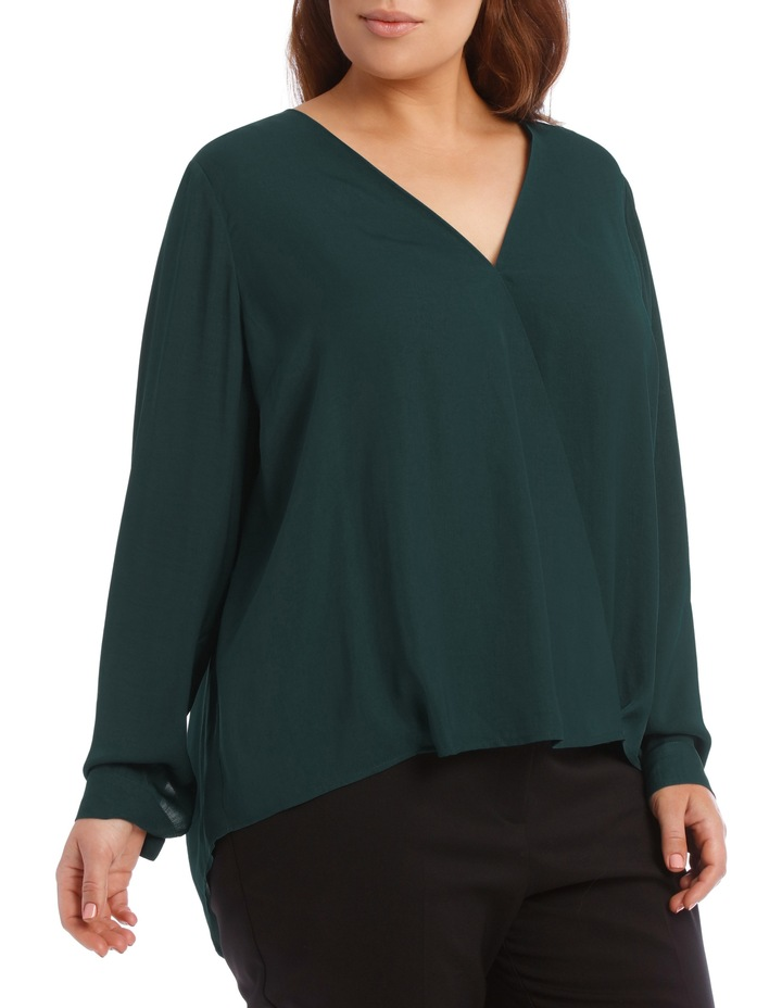 Wrap Shirt - Emerald image 2