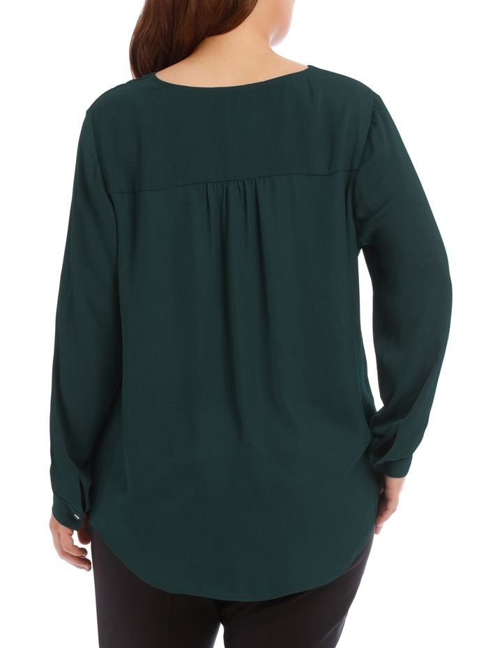 Wrap Shirt - Emerald image 3