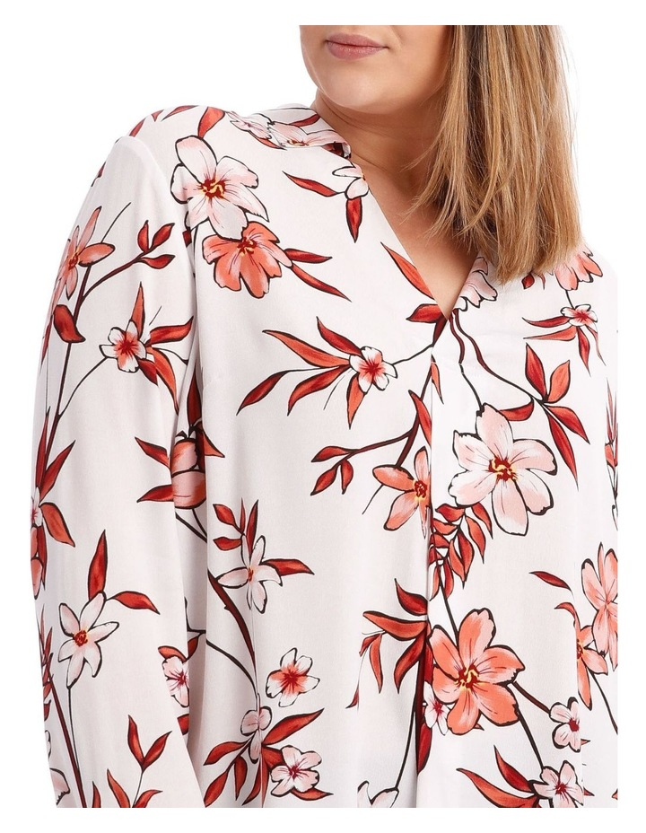 Painted Floral Collared Top image 4