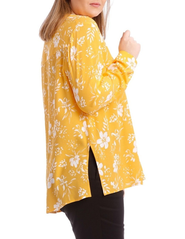 Yellow Floral Collared Top image 2