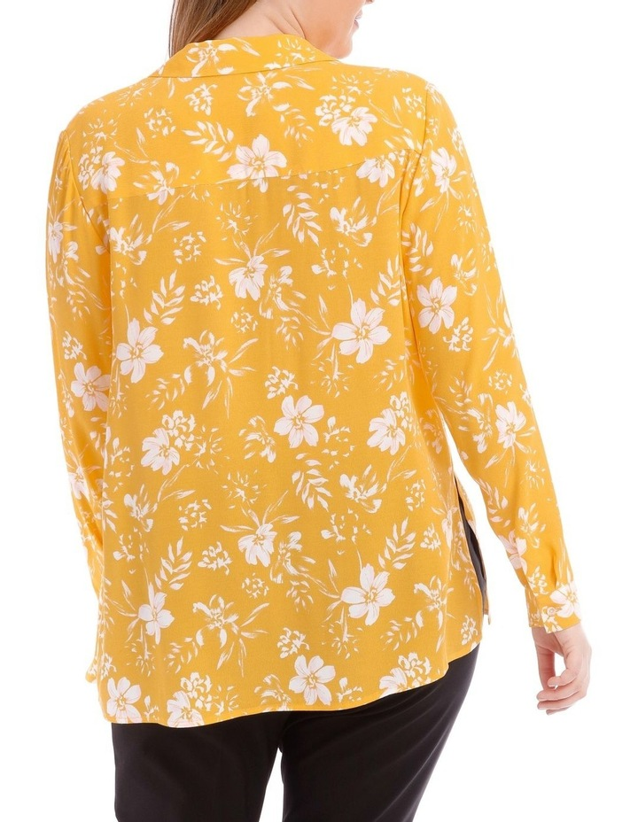 Yellow Floral Collared Top image 3