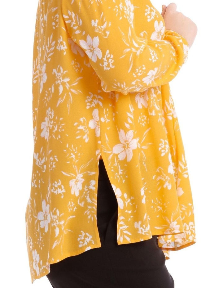 Yellow Floral Collared Top image 4