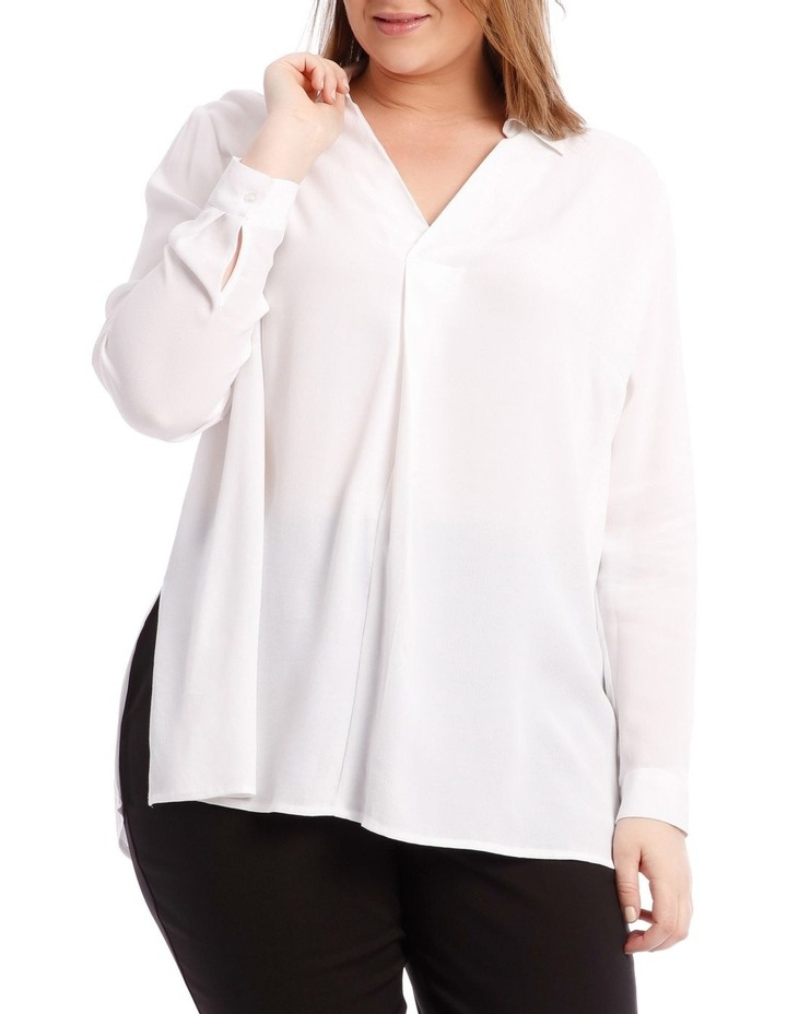 White Collared Top image 1