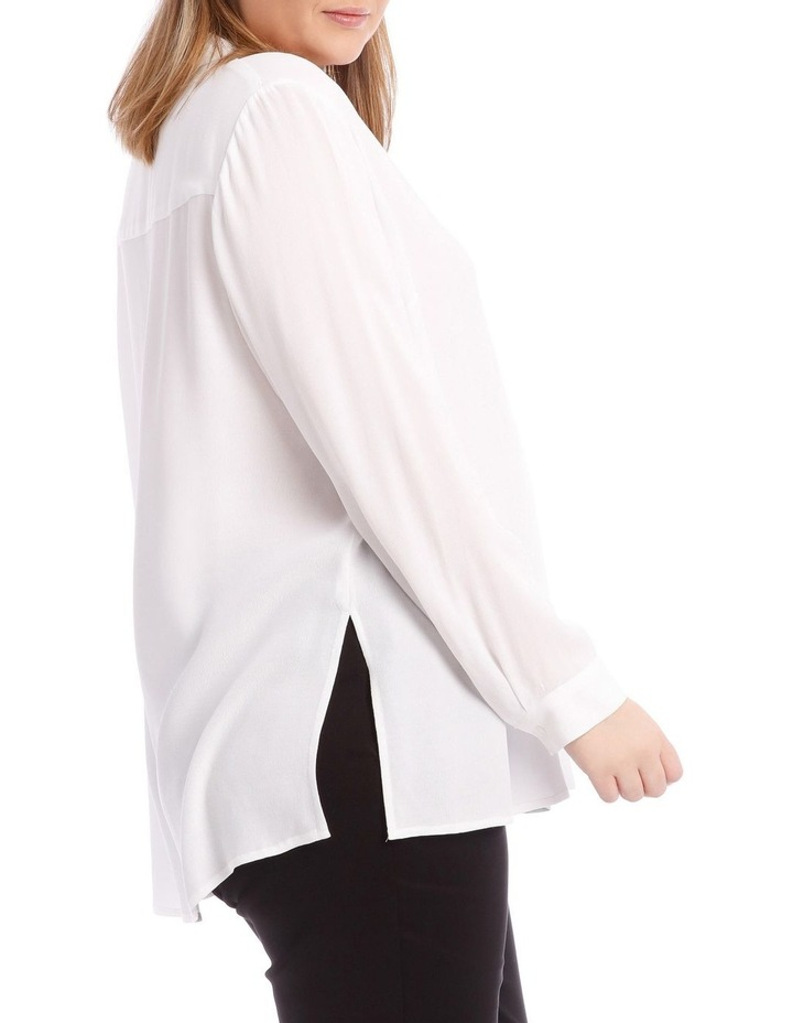 White Collared Top image 2