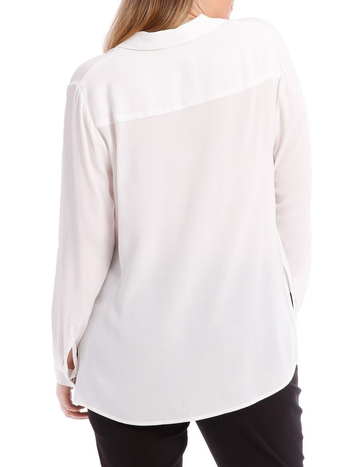 White Collared Top image 3