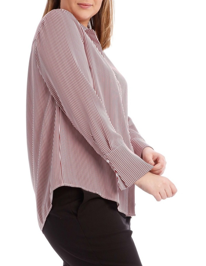 Burgundy Stripe Work Shirt image 2