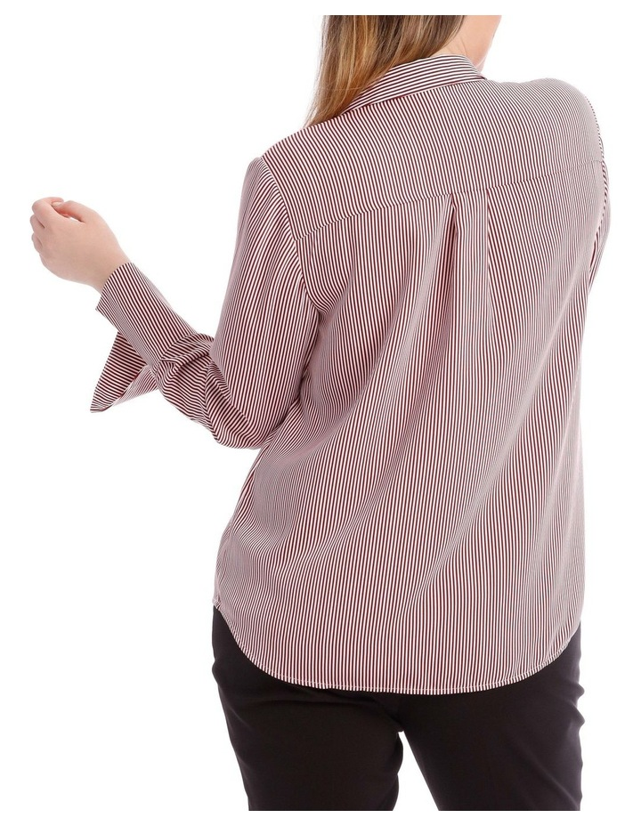 Burgundy Stripe Work Shirt image 3