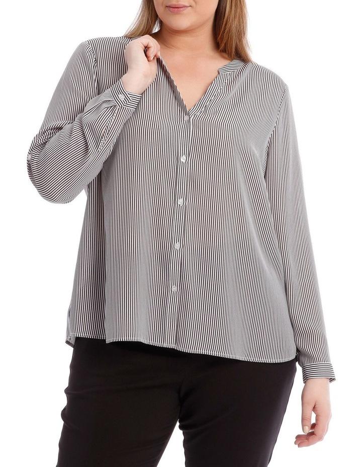 Fine Stripe Button Through Shirt image 1