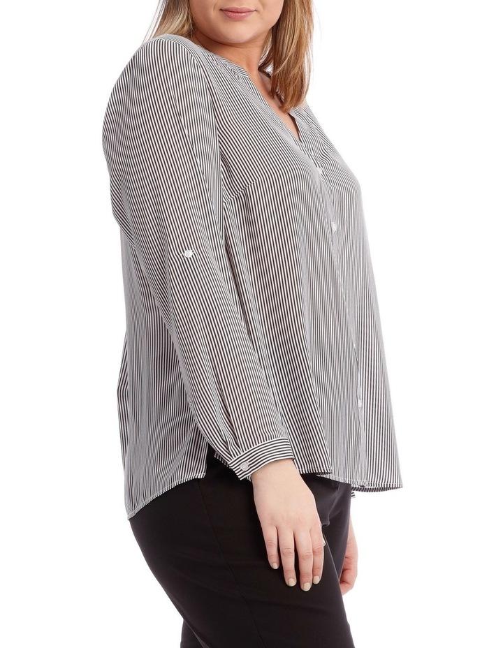 Fine Stripe Button Through Shirt image 2