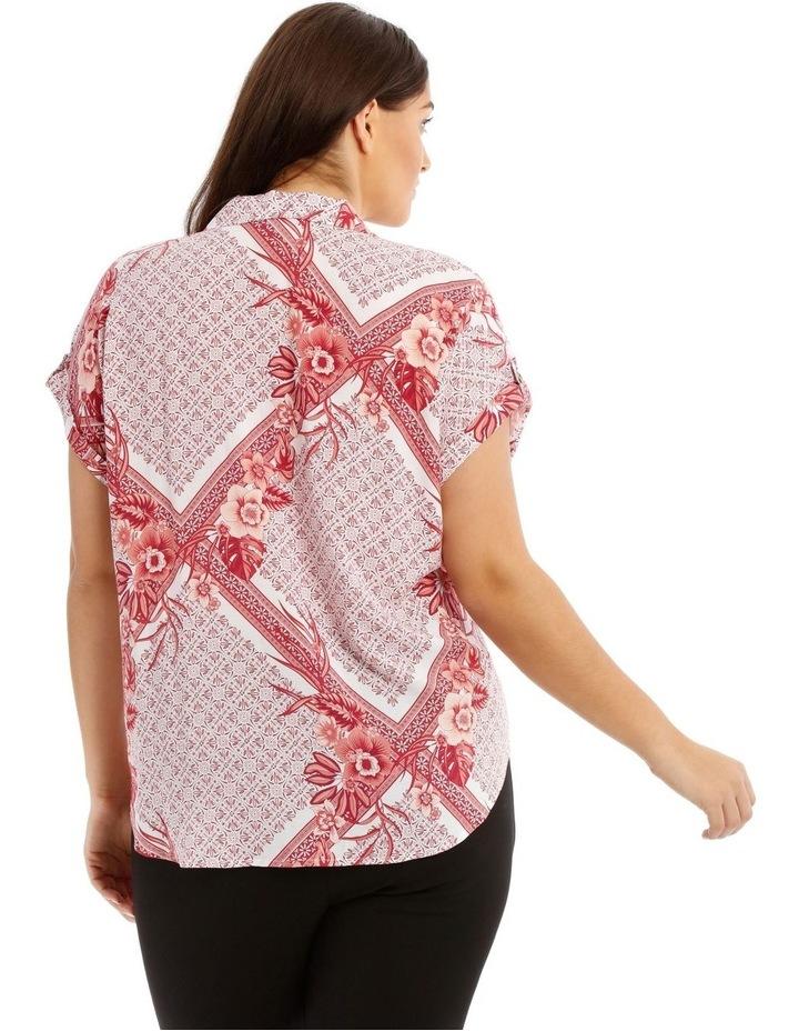 Scarf Print Extended Shoulder Shirt image 3