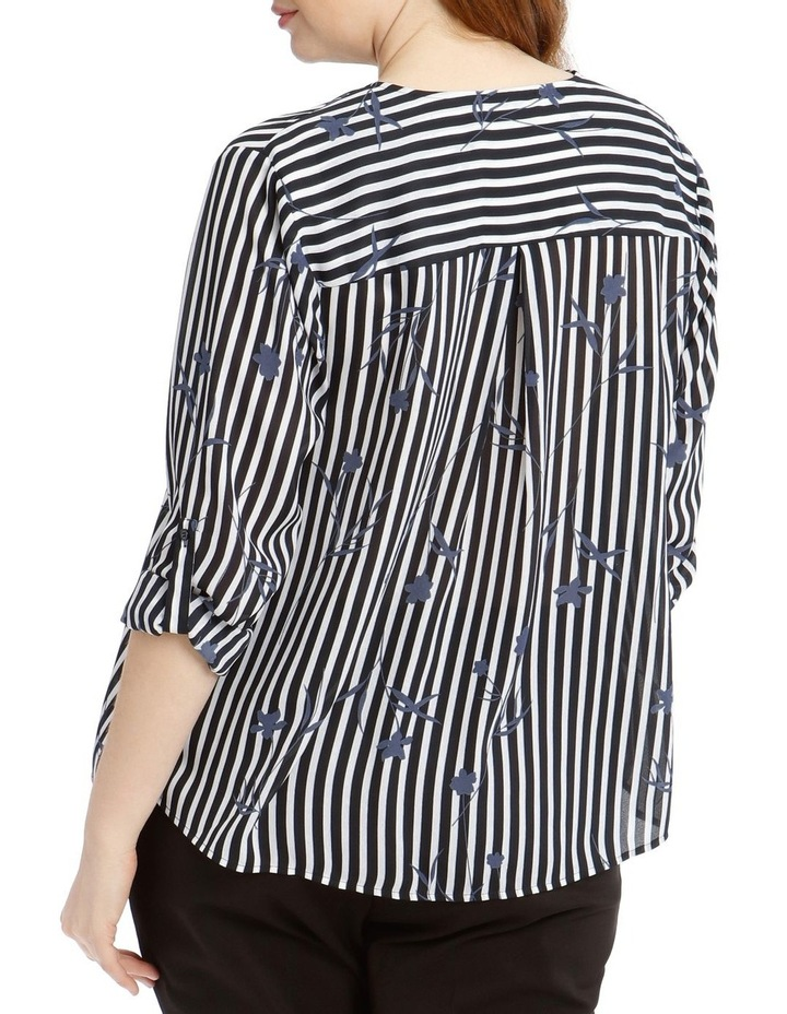 Concealed Placket Shirt - Floral Stripe image 3