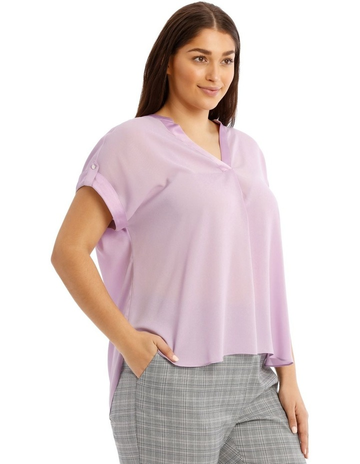 Satin Cuff Short Sleeve Shirt image 2