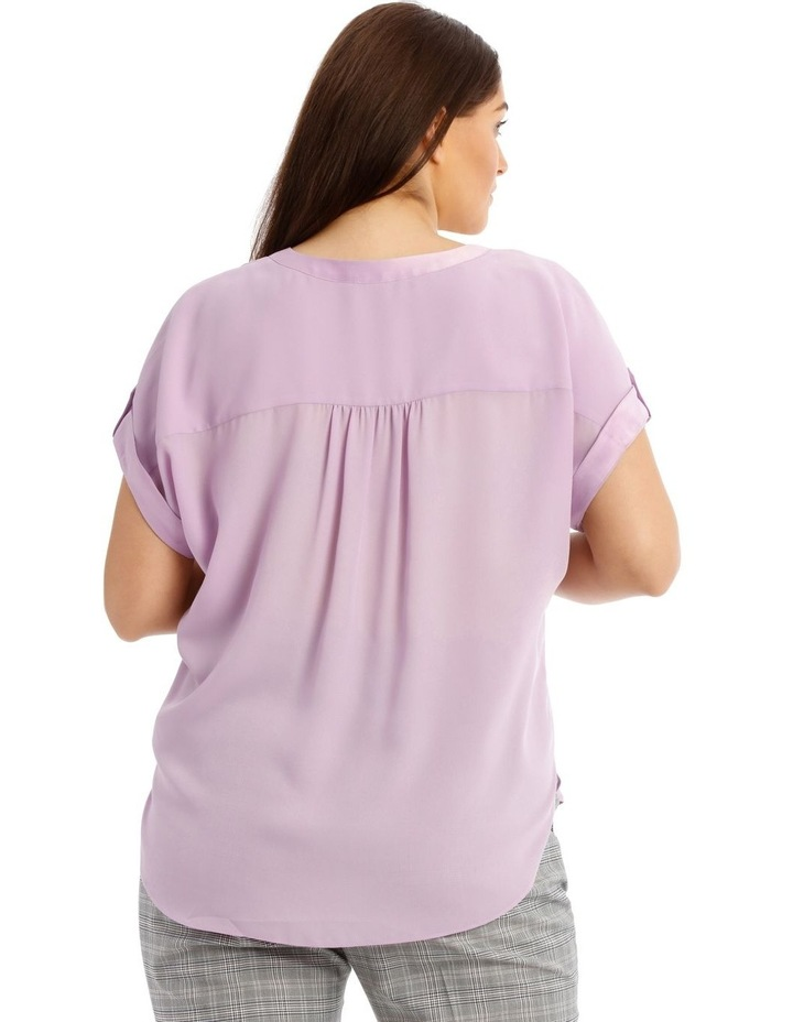 Satin Cuff Short Sleeve Shirt image 3