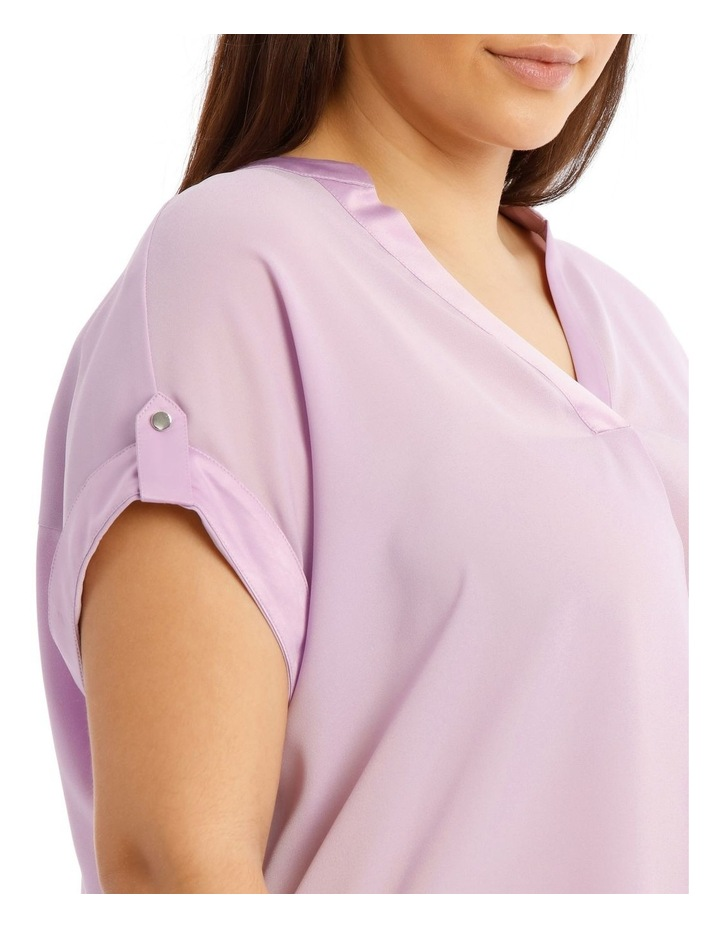 Satin Cuff Short Sleeve Shirt image 4