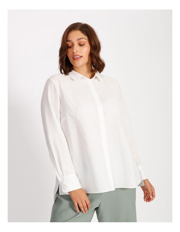 Curve Cotton Stripe Tunic Shirt image 1