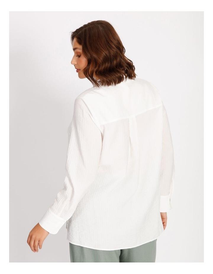 Curve Cotton Stripe Tunic Shirt image 4