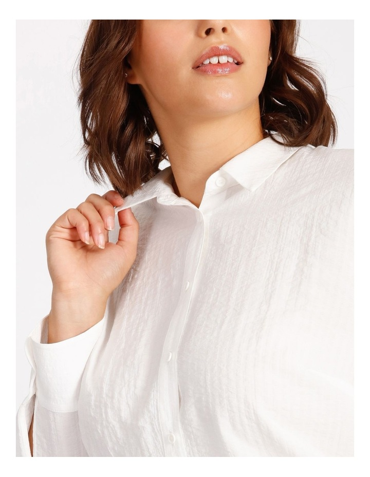 Curve Cotton Stripe Tunic Shirt image 5