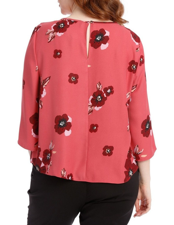 tie front top - poppy image 3