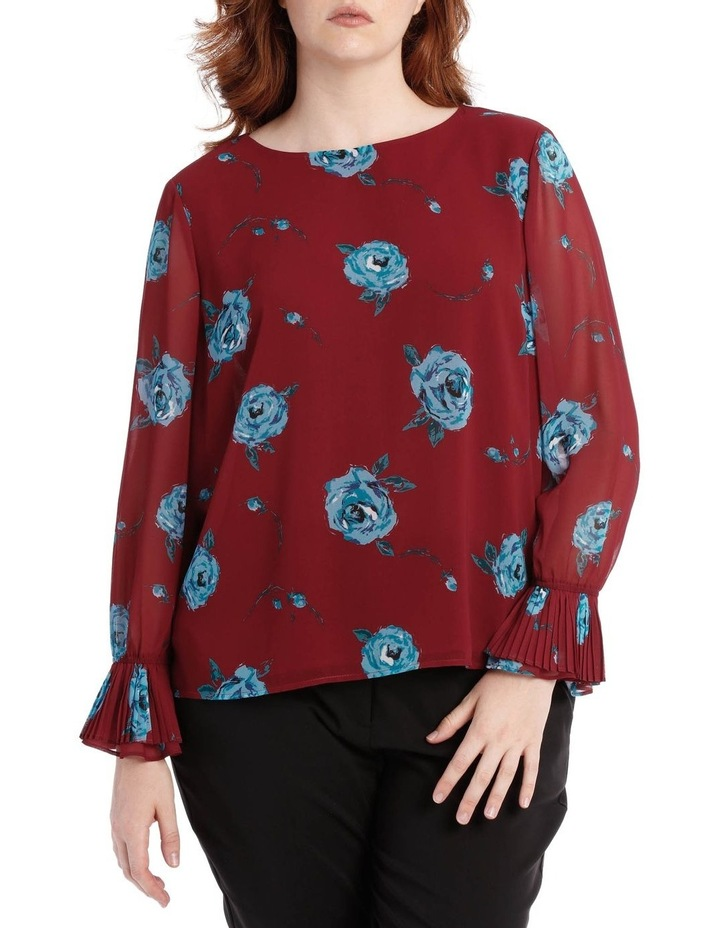 pleat sleeve top - rose hero image 1