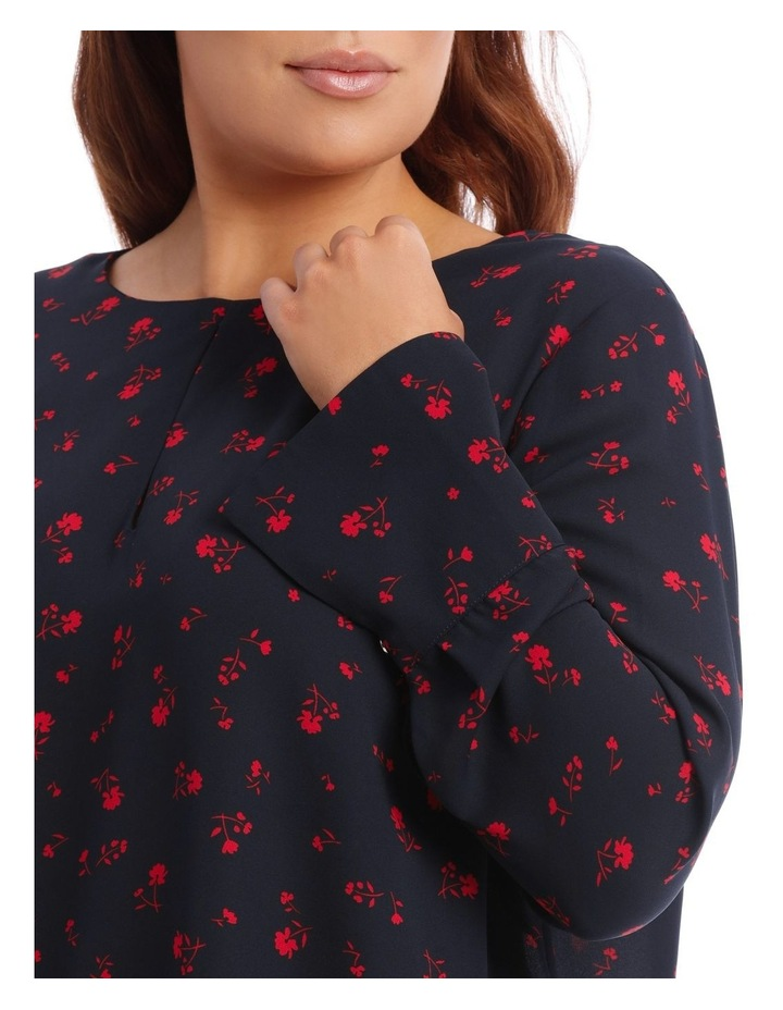 Ditsy Floral Wide Cuff Top image 4