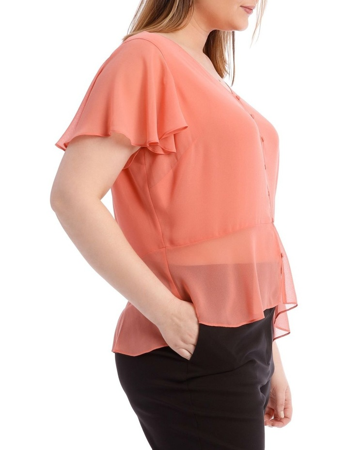 Peach Button Up Blouse image 2