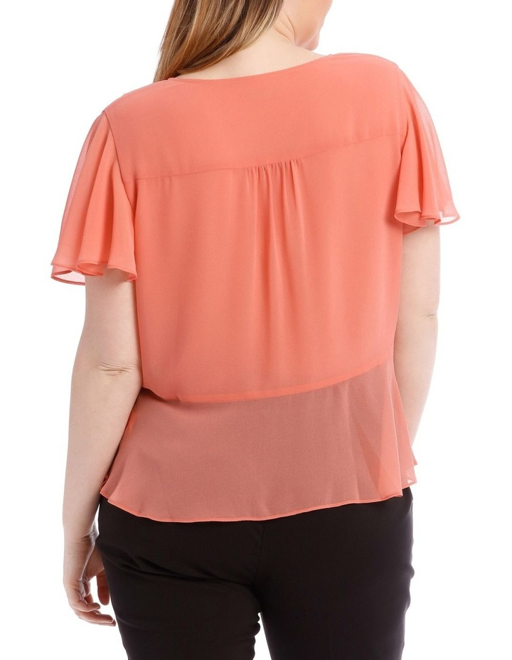 Peach Button Up Blouse image 3
