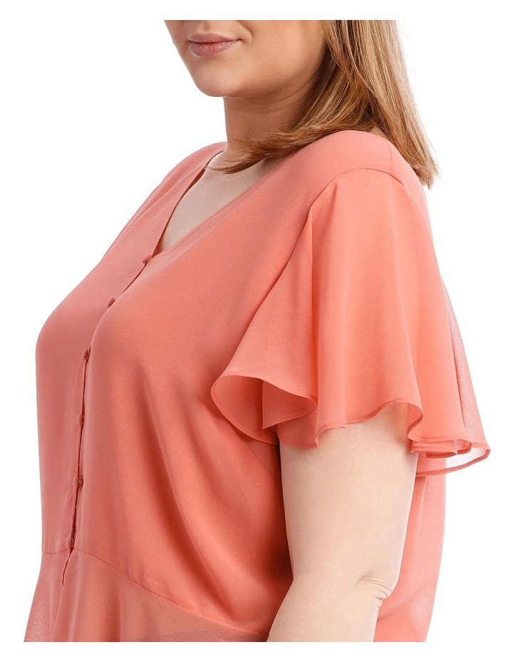 Peach Button Up Blouse image 4