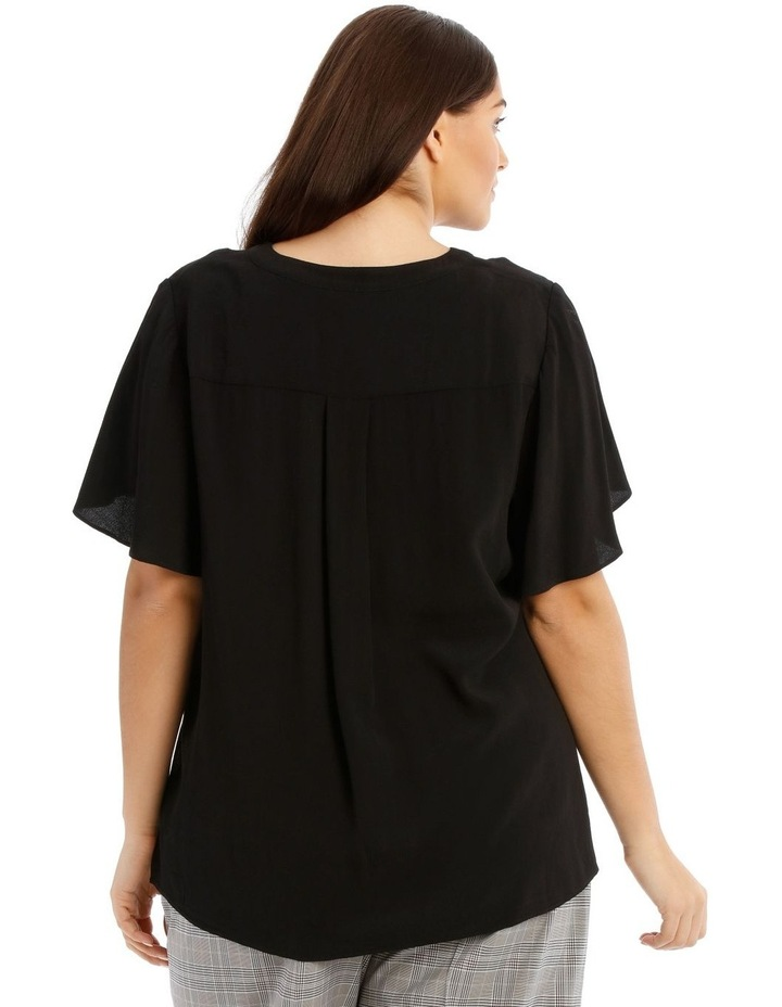 Button Front Flutter Sleeve Top image 3