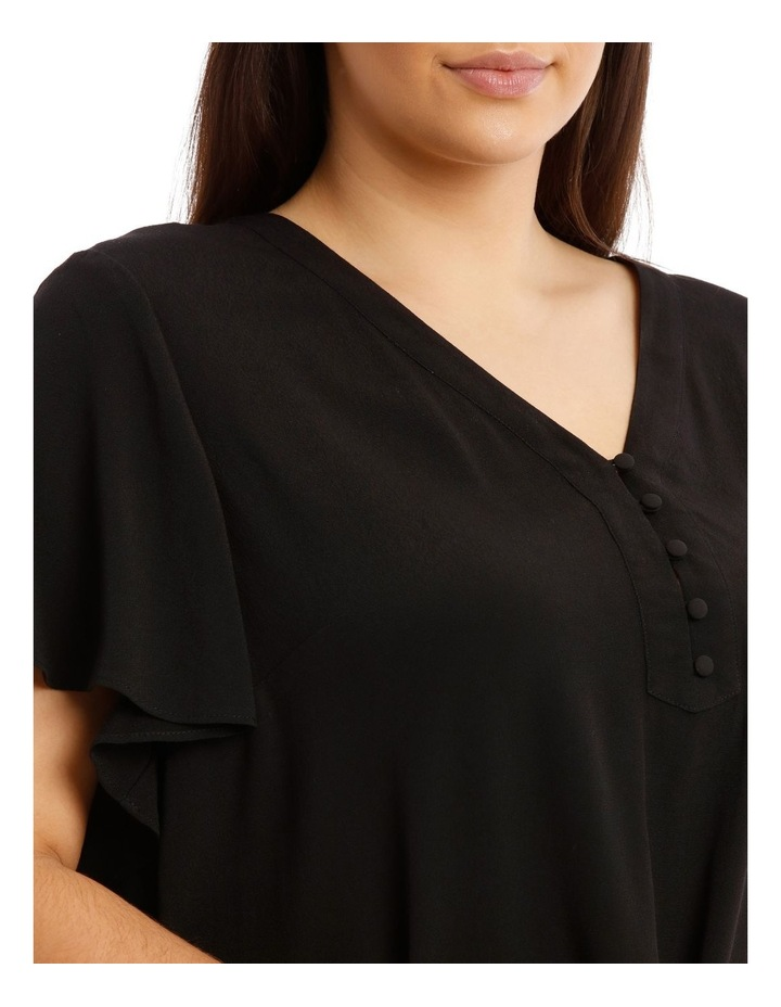 Button Front Flutter Sleeve Top image 4