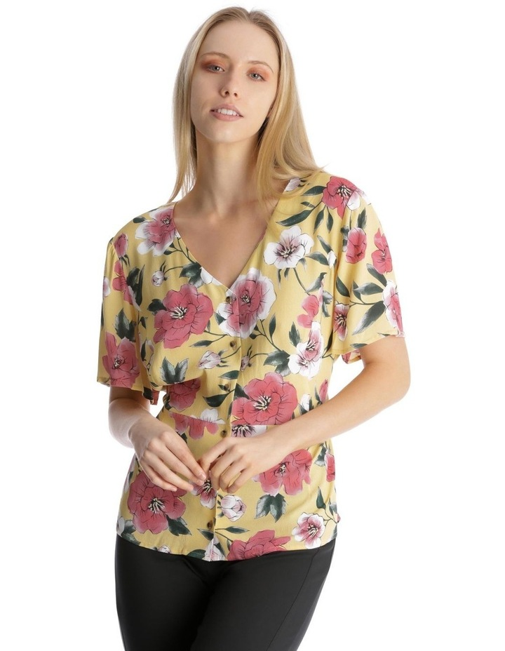 Button Front Blouse - Large Bloom image 1