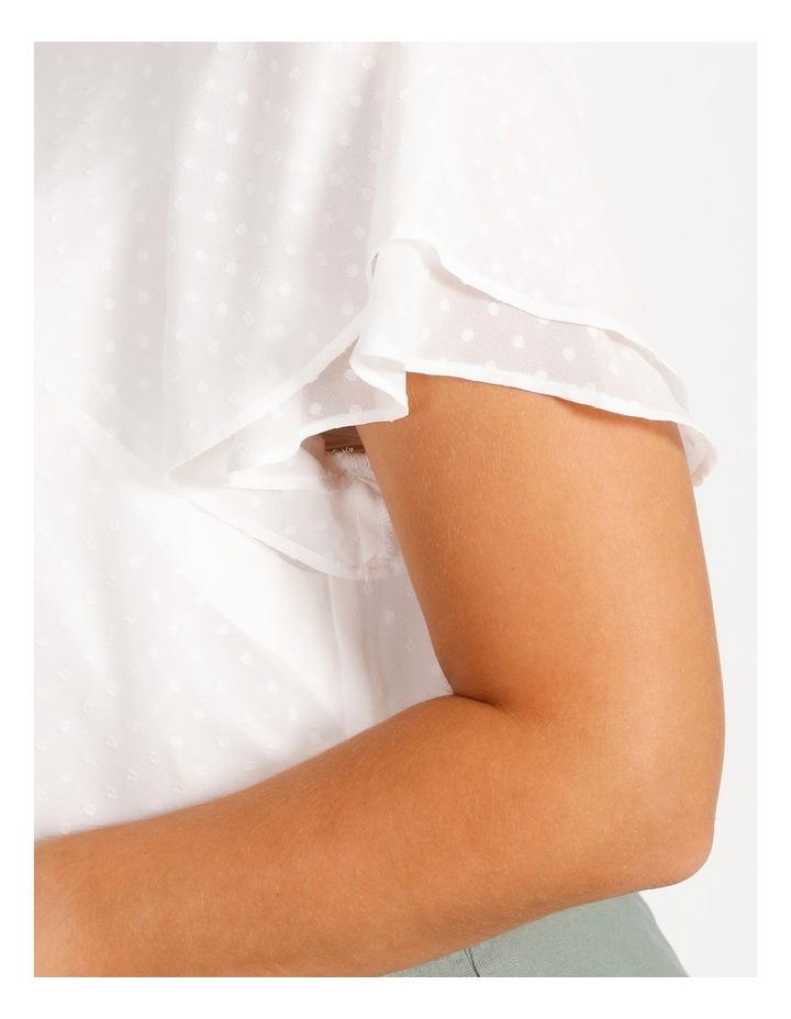 Curve Flutter Sleeve Blouse image 4