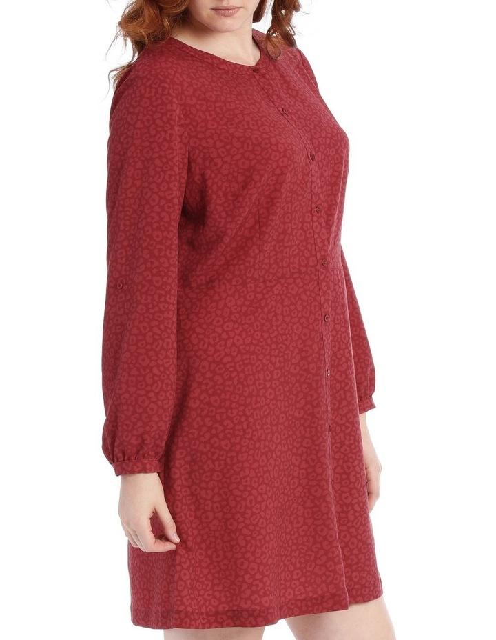 button through shirt dress - ocelot image 2