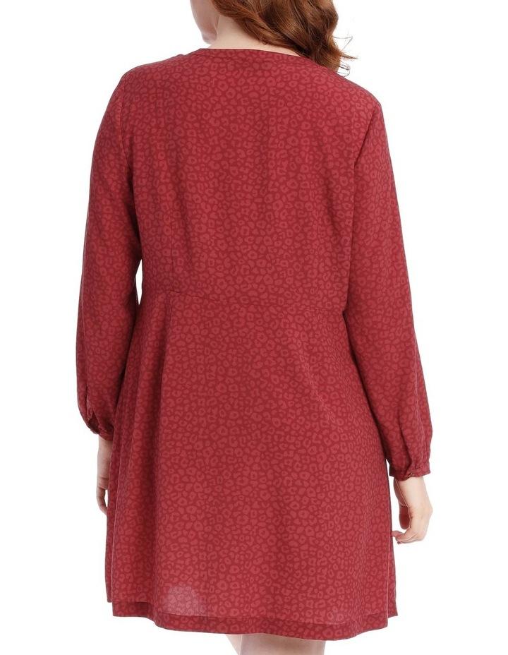 button through shirt dress - ocelot image 3