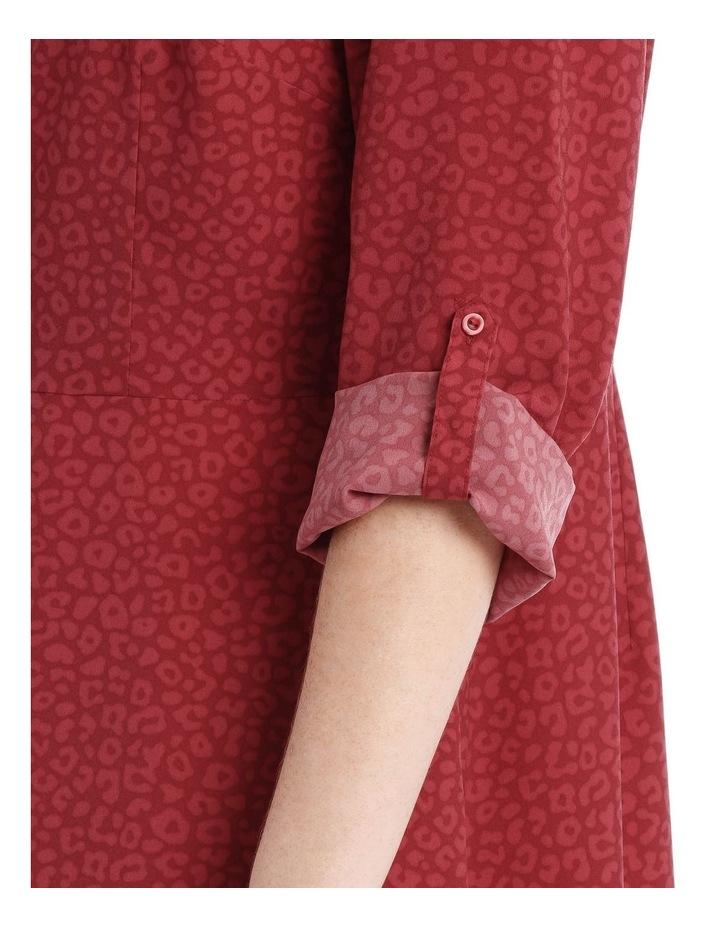 button through shirt dress - ocelot image 4