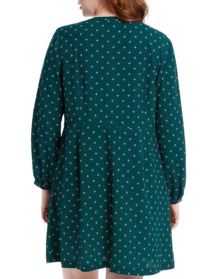 button through shirt dress - ditsy image 3