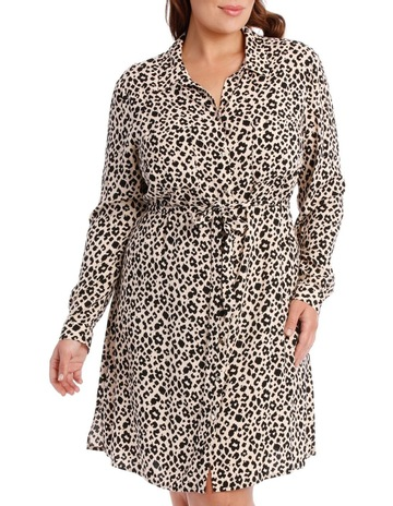e88ff80ad7e726 Tokito Curve collared shirt dress - animal