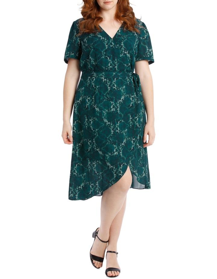 Wrap Midi Dress - Snakeskin image 1