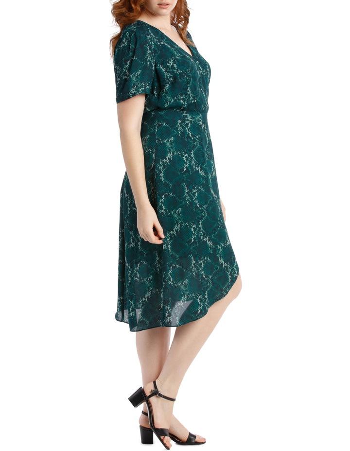 Wrap Midi Dress - Snakeskin image 2