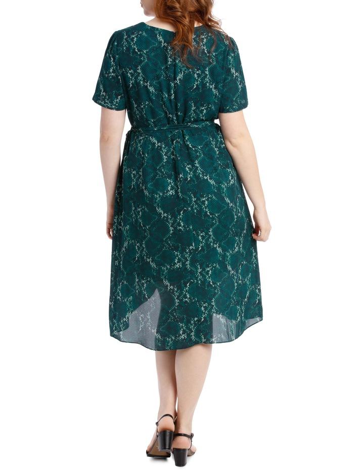 Wrap Midi Dress - Snakeskin image 3