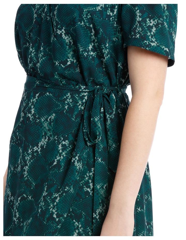 Wrap Midi Dress - Snakeskin image 4