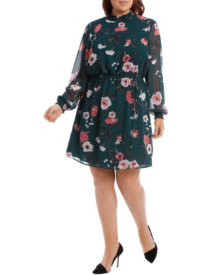 Large Bloom Shirred Neck Dress image 1