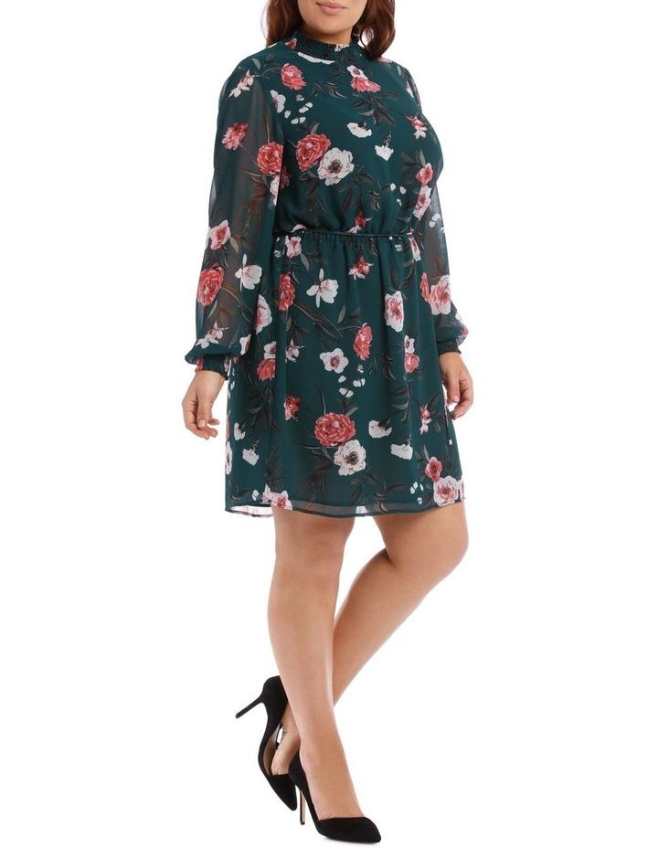 Large Bloom Shirred Neck Dress image 2