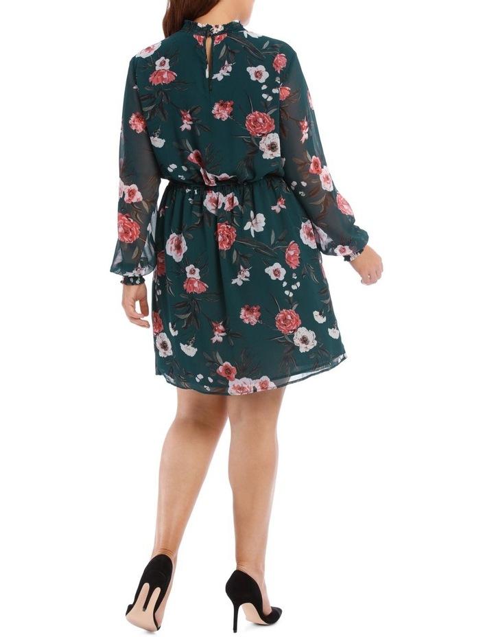 Large Bloom Shirred Neck Dress image 3