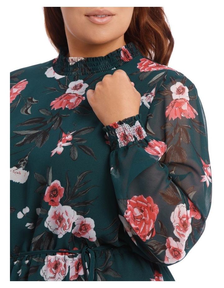 Large Bloom Shirred Neck Dress image 4