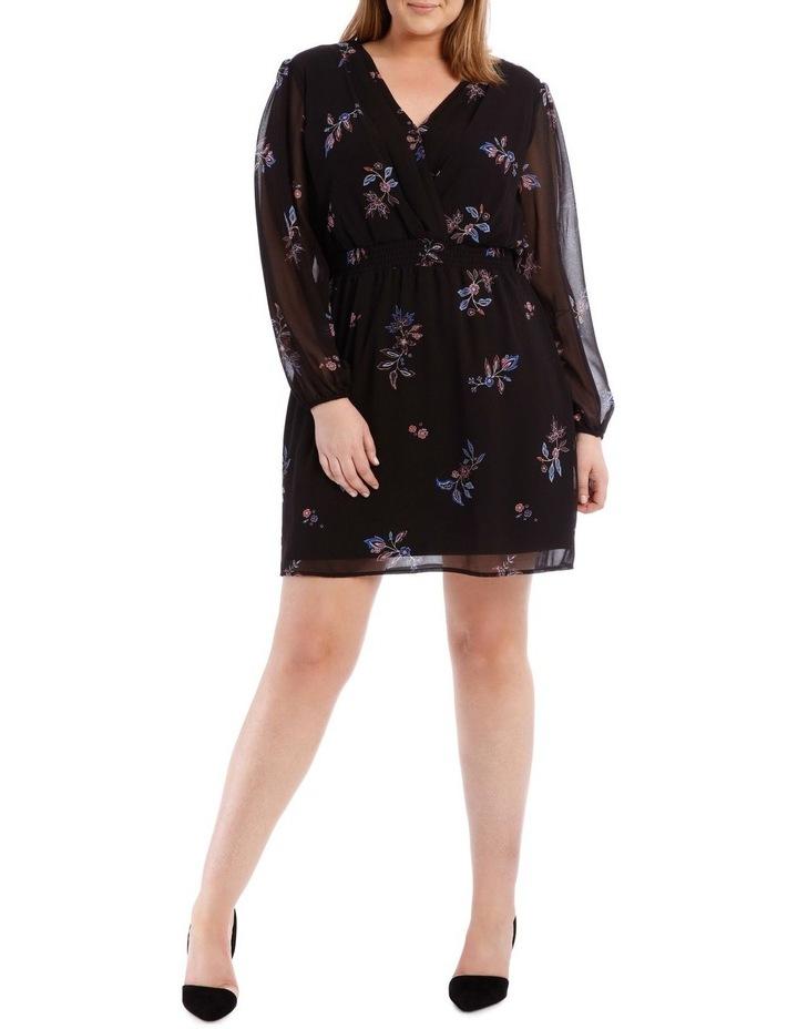 Spaced Paisley Shirred Waist Dress image 1