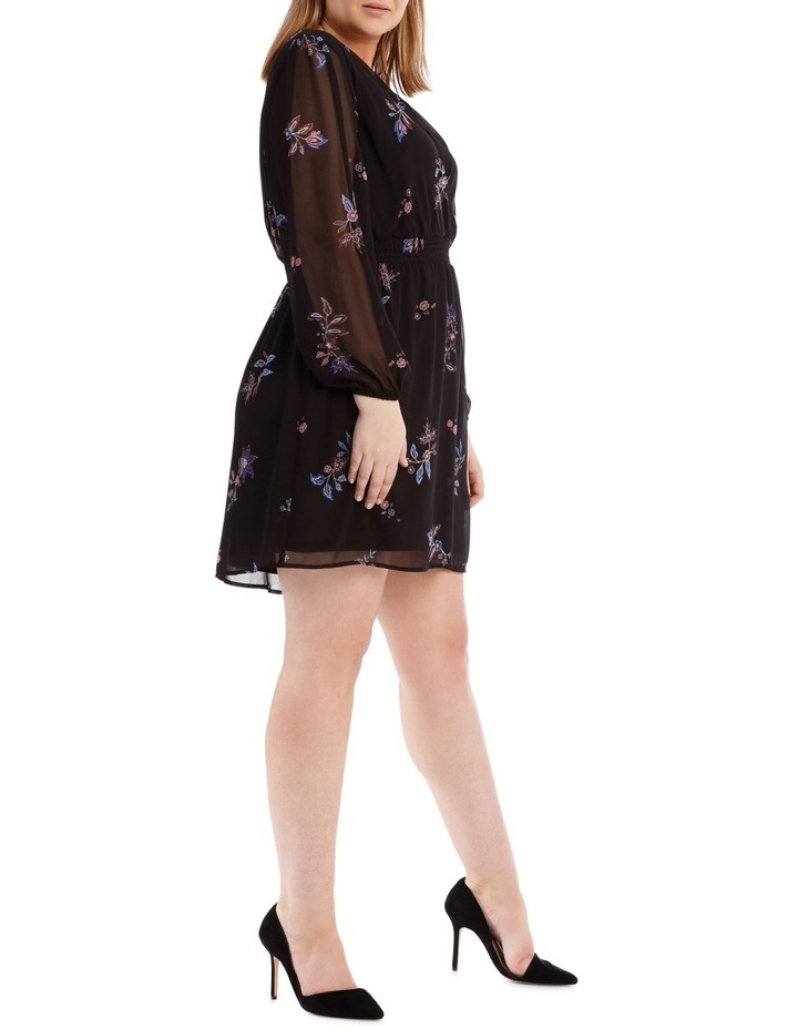 Spaced Paisley Shirred Waist Dress image 2