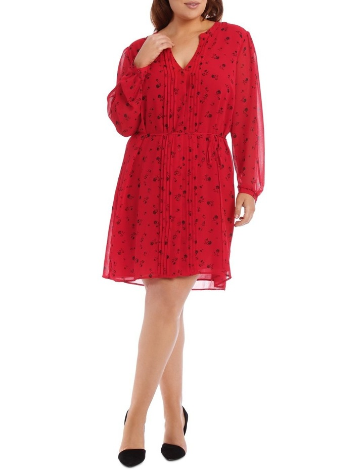 Ditsy Floral Pleat Front Shirt Dress image 1
