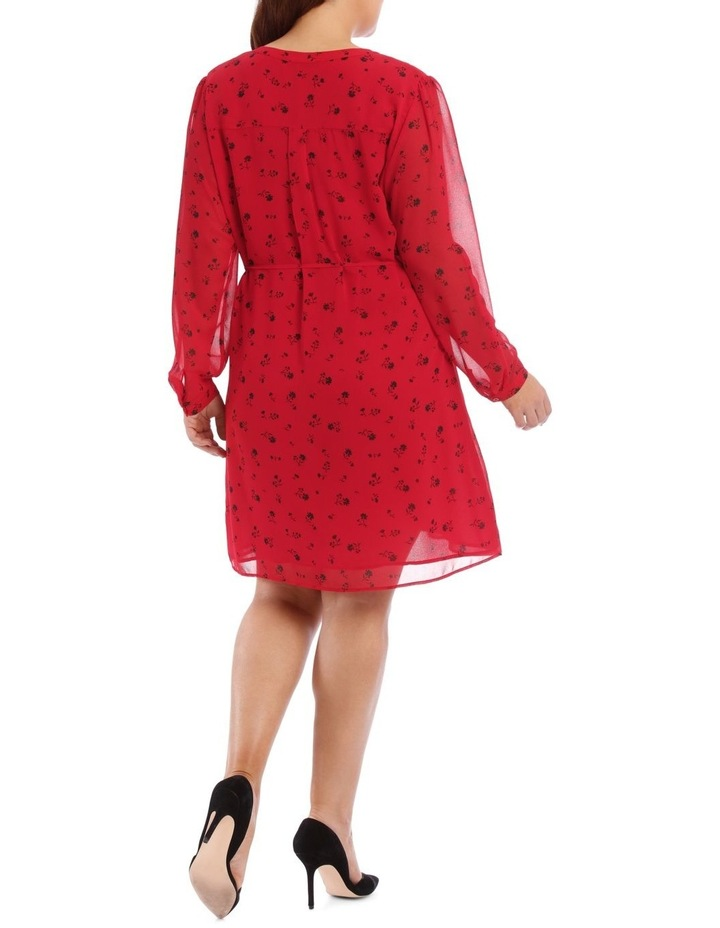 Ditsy Floral Pleat Front Shirt Dress image 3