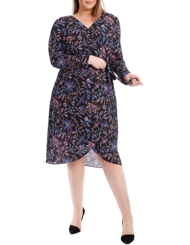 Paisley Long Sleeve Wrap Dress image 1
